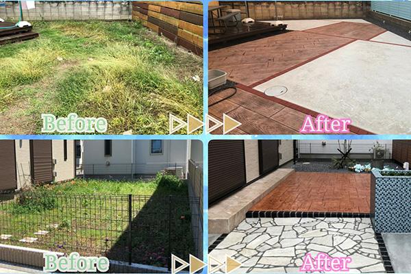 楽しいお庭!雑草対策でオシャレにリフォーム☆こだわりの快適★プライベート空間を*˘︶˘*)ご提案します!