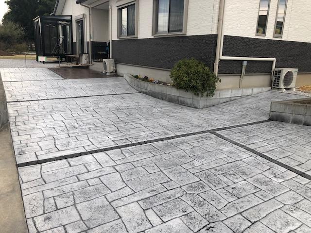 駐車場のスタンプコンクリート06