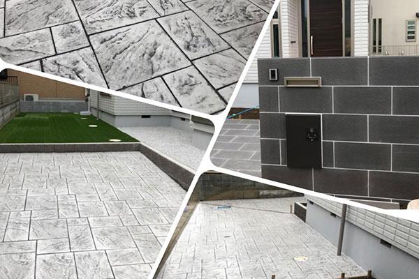 人工芝とスタンプコンクリートが良い感じな施工例