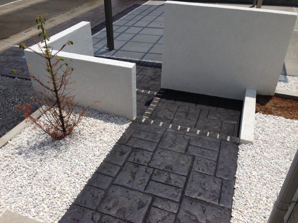 ブラックがかっこいいスタンプコンクリート2