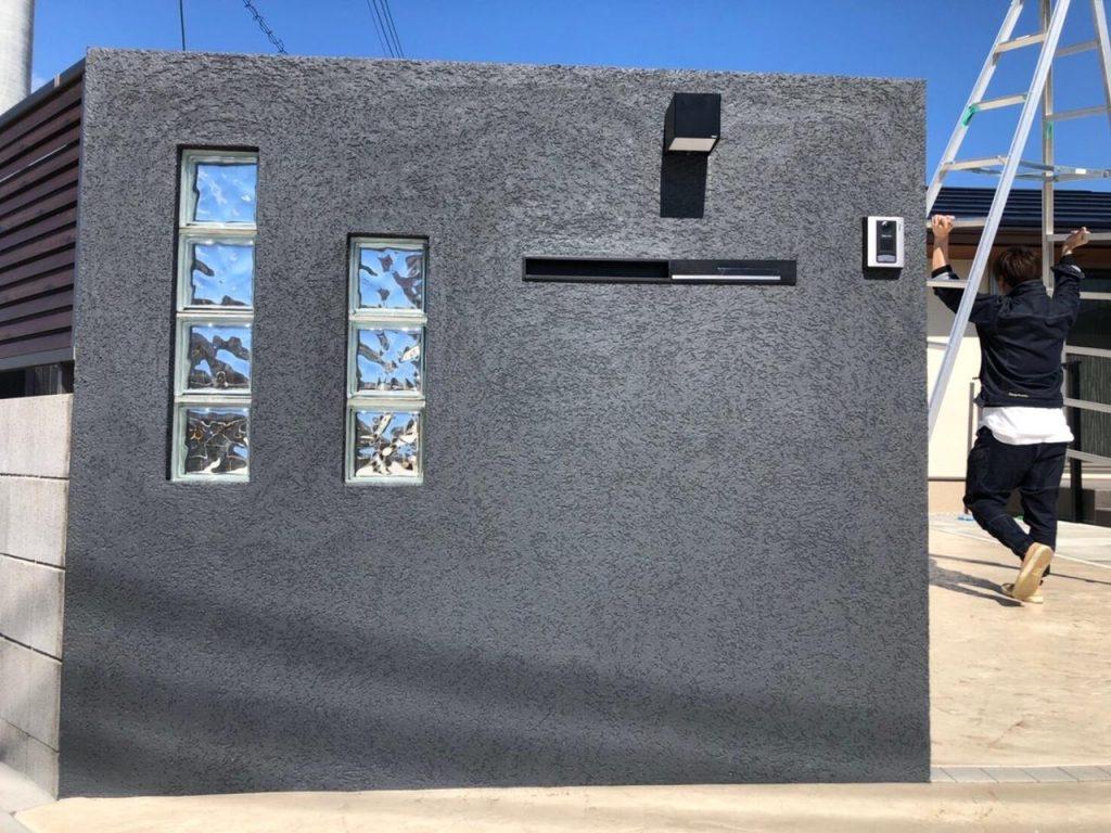 ガラスブロック門柱2